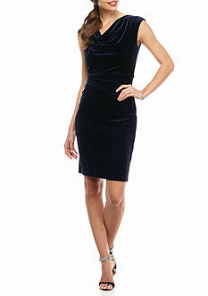 Vince Camuto Drape Neck Sheath Dress