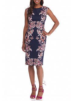 Vince Camuto Floral Printed Sheath Dress