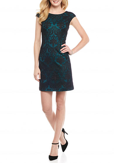 Vince Camuto Lace Shift Dress with Cutout Back