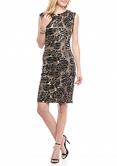 Vince Camuto Sequin Lace Sheath Dress