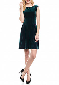 Vince Camuto Velvet Fit and Flare Dress
