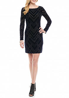 Vince Camuto Burnout Velvet Sheath Dress