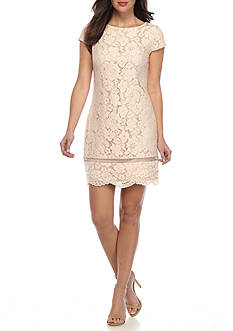 Vince Camuto Short Sleeve Lace Dress