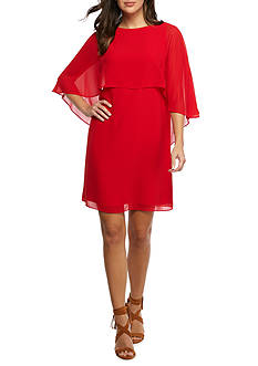Vince Camuto Cape Overlay Sheath Dress
