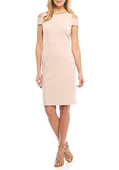 Vince Camuto Cold Shoulder Sheath Dress