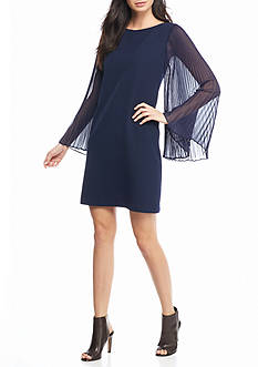 Vince Camuto Pleated Sleeve Sheath Dress