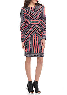 Vince Camuto Printed Sheath Dress