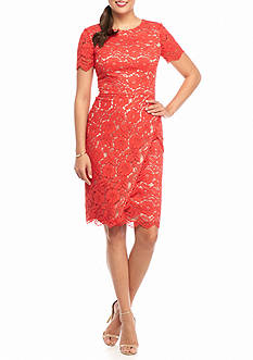Vince Camuto Floral Lace Sheath Dress