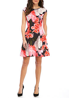Vince Camuto Floral Fit and Flare Dress