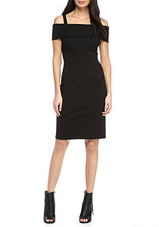 Vince Camuto Cold Shoulder Ponte Sheath Dress