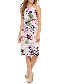Vince Camuto Floral Printed Halter Dress