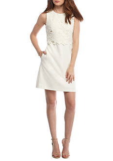 Vince Camuto Lace Popover Sheath Dress