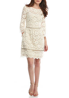 Vince Camuto Flare Sleeve Lace Dress