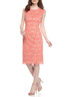 Vince Camuto Short Sleeve Lace Bodycon Dress