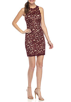 My Michelle Short Lace Sheath Dress
