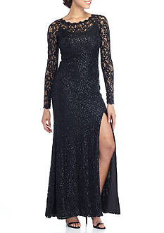 sequin hearts Lace and Sequin Gown