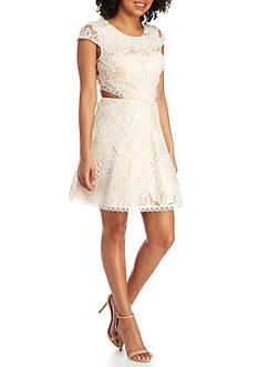 My Michelle Lace Two Piece Party Dress