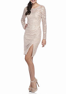 sequin hearts Lace and Glitter Sheath Dress