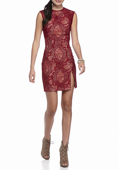 sequin hearts Lace Sheath Party Dress