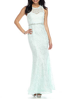 sequin hearts Lace Gown