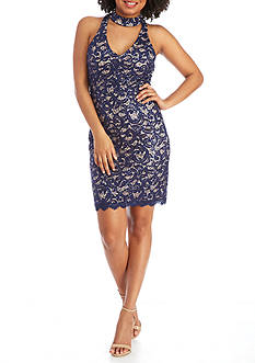 sequin hearts Lace Sheath Dress