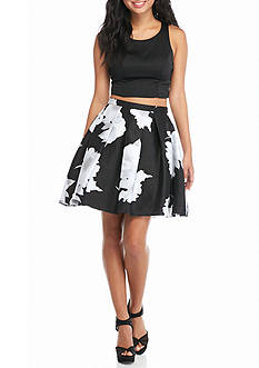 sequin hearts Two-Piece Skirt Set