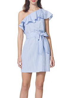 Donna Morgan One Shoulder Belted Dress