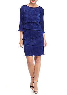 Ronni Nicole Tiered Sparkle Sheath Dress