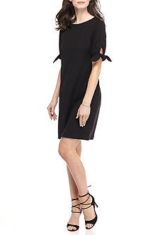 Ronni Nicole Tie-Sleeve Shift Dress
