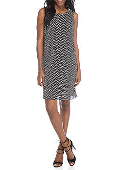 Ronni Nicole Printed Sleeveless Shift Dress