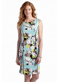 Tahari ASL Floral Printed Scuba Sheath Dress