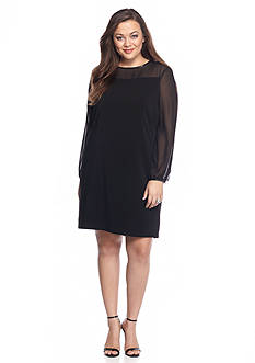 Tahari ASL Plus Size Crepe Shift Dress