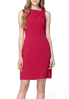 TAHARI™ Asymmetrical Neckline Sheath Dress