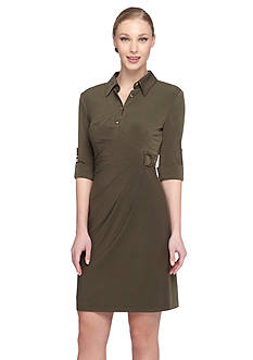 TAHARI™ Jersey Shirt Dress