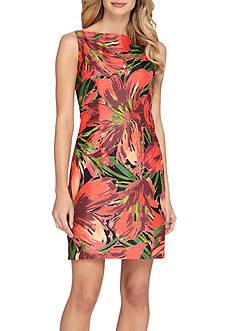 Tahari Floral Printed Sheath Dress