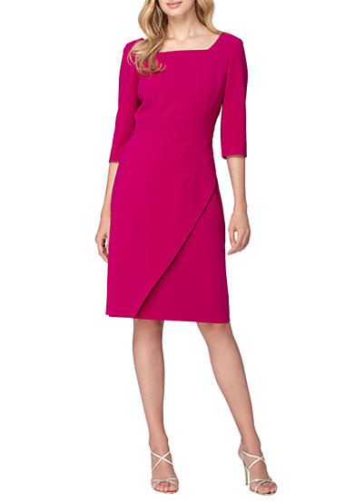 Tahari Square-Neck Sheath Dress