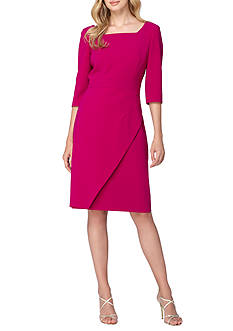 TAHARI™ Square-Neck Sheath Dress