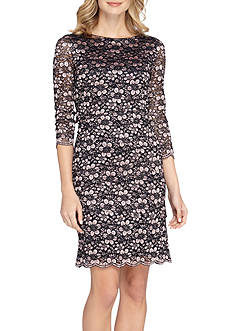 TAHARI™ Floral Lace Sheath Dress