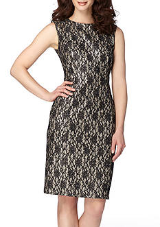 Tahari ASL Bonded Lace Sheath Dress