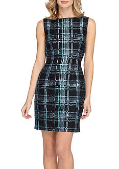 TAHARI™ Plaid Sheath Dress