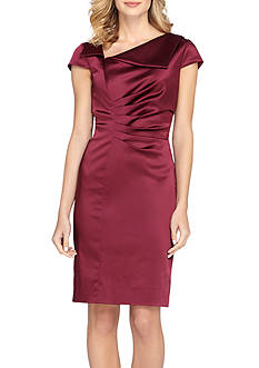 TAHARI™ Stretch Satin Sheath Dress