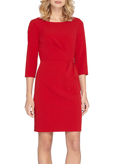 Tahari Side Ruched Sheath Dress