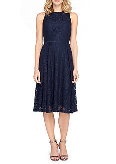 Tahari T-length Lace Fit and Flare Dress