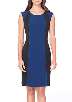 Tahari ASL Colorblock Sheath Dress