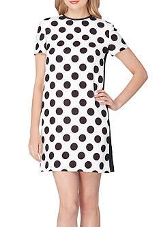 Tahari ASL Polka Dot Shift Dress