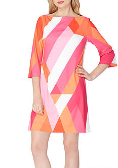 Tahari ASL GEO Printed Shift Dress