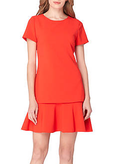 Tahari ASL Short Sleeve Drop Waist Dress