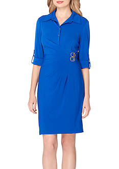 Tahari ASL Jersey Shirt Dress