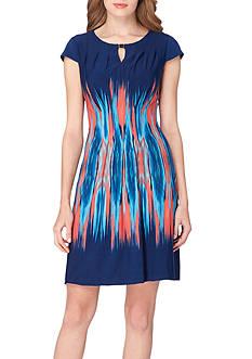 Tahari ASL Watercolor Print A-Line Dress
