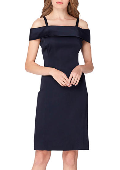 Tahari ASL Cold Shoulder Sheath Dress